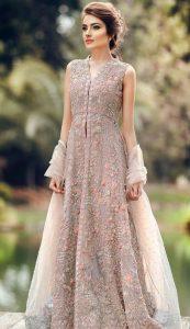 beautiful Pakistani party dress for girl 2017