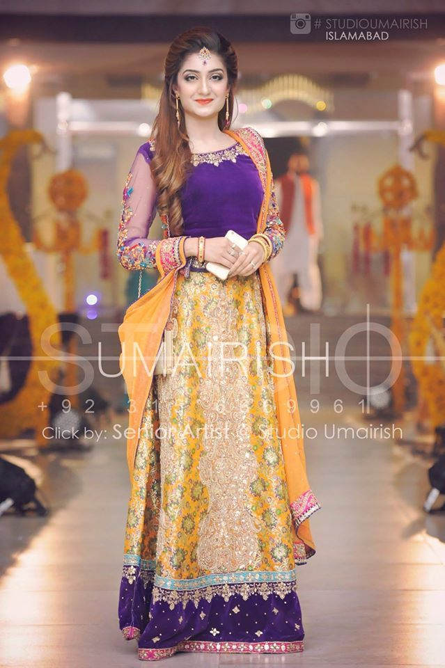 Mehndi Beautiful Dresses : Adorable pakistani mehndi dresses for brides wedding