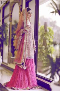 bridal lehenga with short shirt for bride 2017