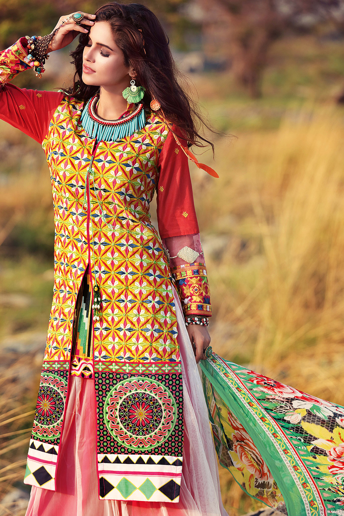 gypsy new dress collection 2017 by Gul Ahmed