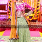 mehndi dress lehenga for girls 2017