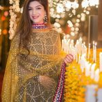 mehndi dresses 2017 with yellow dupatta