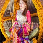 multicolored mehndi dress suit for girls 2017