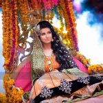 pakistani mehndi dress for girls