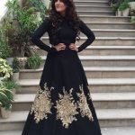 pure black indian gown 2017