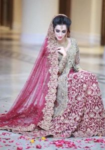 stunning bridal dress for bride 2017 Pakistani