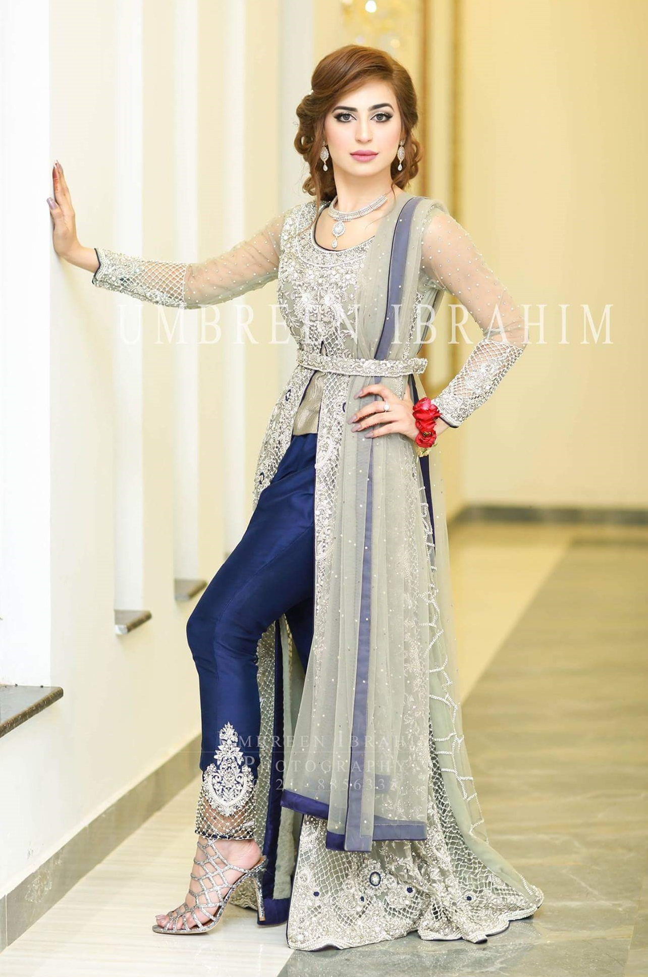 Pakistani Waist Belt Dresses Designs For Women Formal Wear