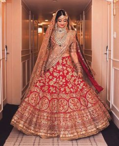 wedding dress for bride 2017 by Manish Malhotra