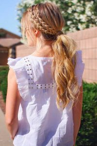 Beautiful Ponytail Hairstyle for girls 2017
