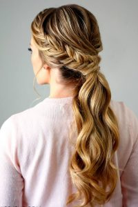 Cute ponytail hairstyles braided ponytail for girls 2017