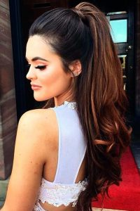 Fancy Ponytail hairstyle for girls 2017