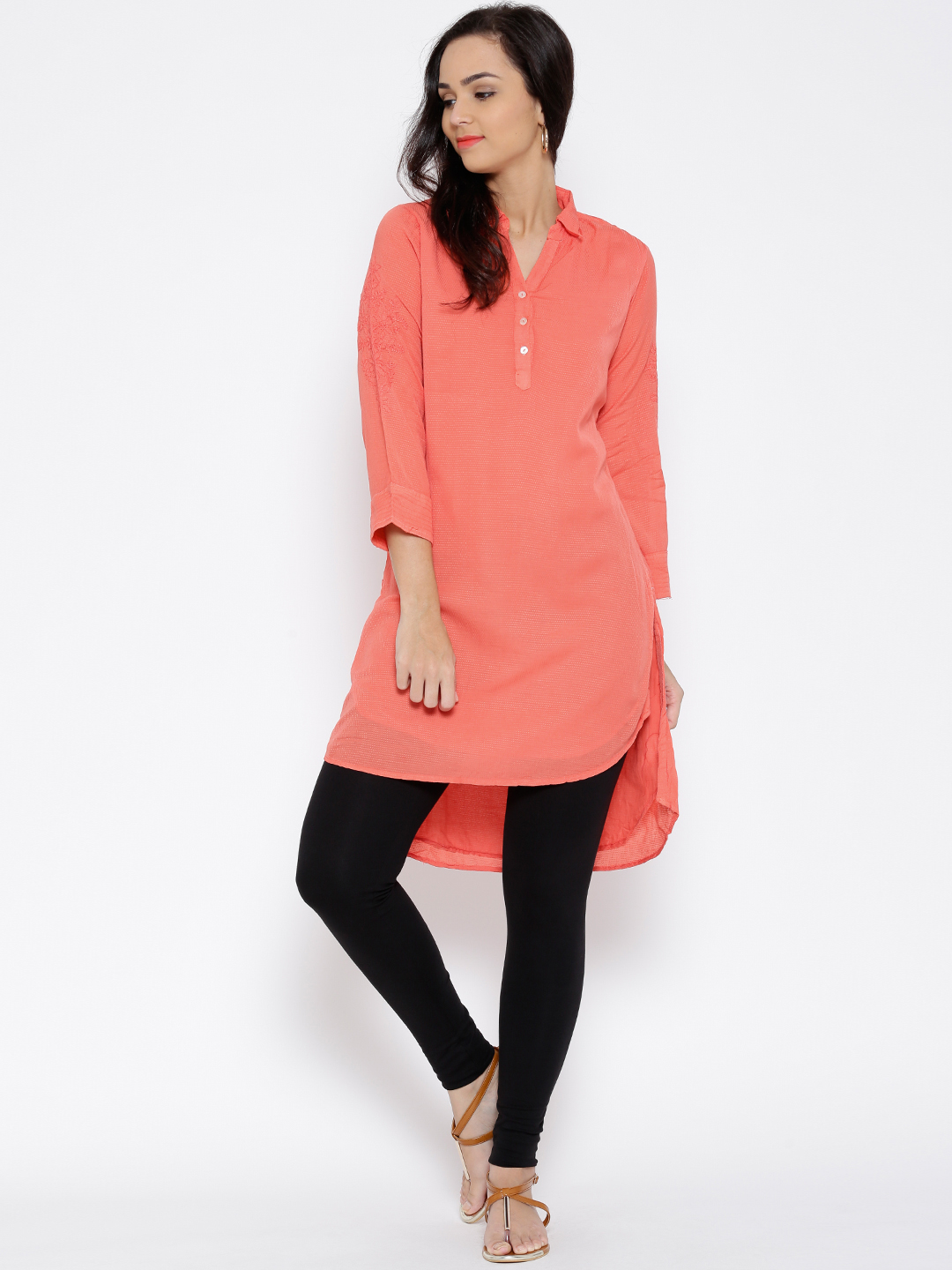 High Low Kurta with Tights