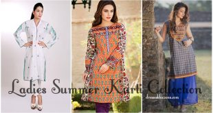 Ladies Summer Kurta Collection 2017 Designs of Summer Kurti Dresses