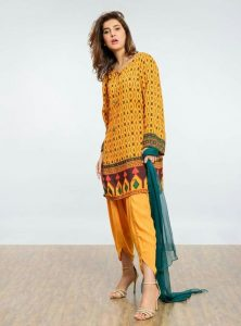 Orange Short Shirts with Tulip Pant for Ladies 2017