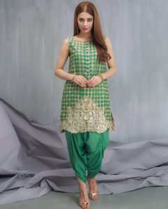 Pakistani Party Wear Dresses of Tulip Pant 2017