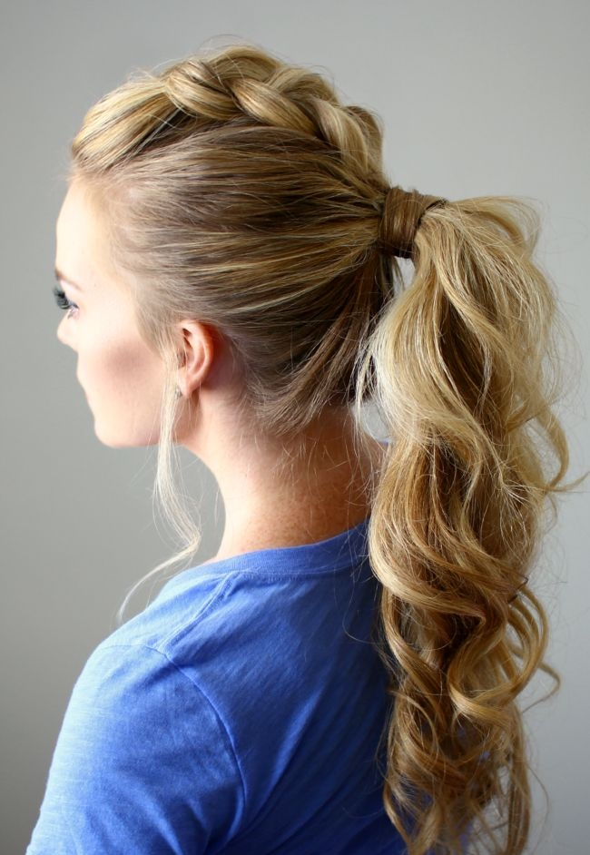 Prom Hair updo Ponytail Braided Pony Cowgirl Hairstyles