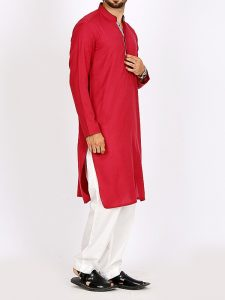 Red Color Summer kurta design 2017