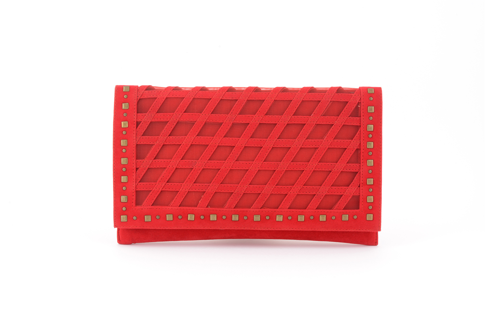 Red new design of Clutch for girls 2017 by ECS