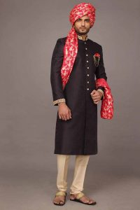 Sherwani with Kula for men's wedding 2017