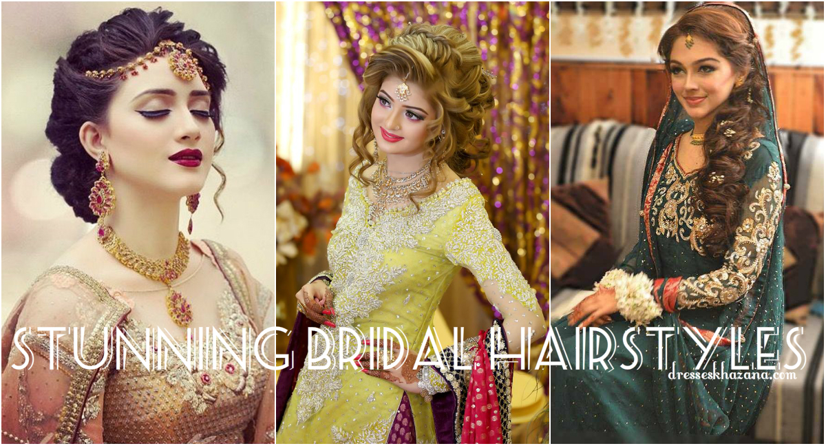 Mehndi Hairstyles For Brides : Trendy pakistani bridal hairstyles new wedding look