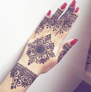 Back hand mehndi designs for girls 2017