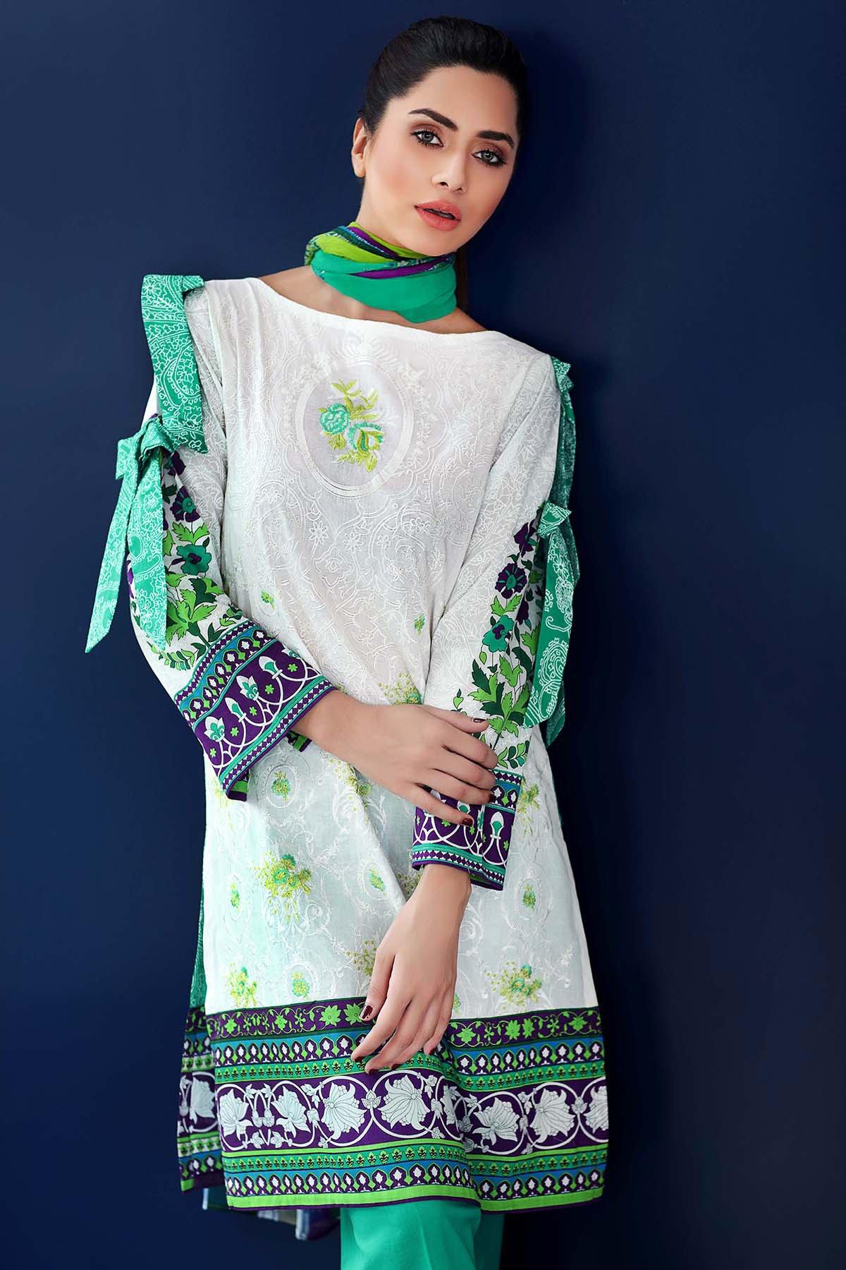 Gul Ahmed latest style of eid dresses 2017