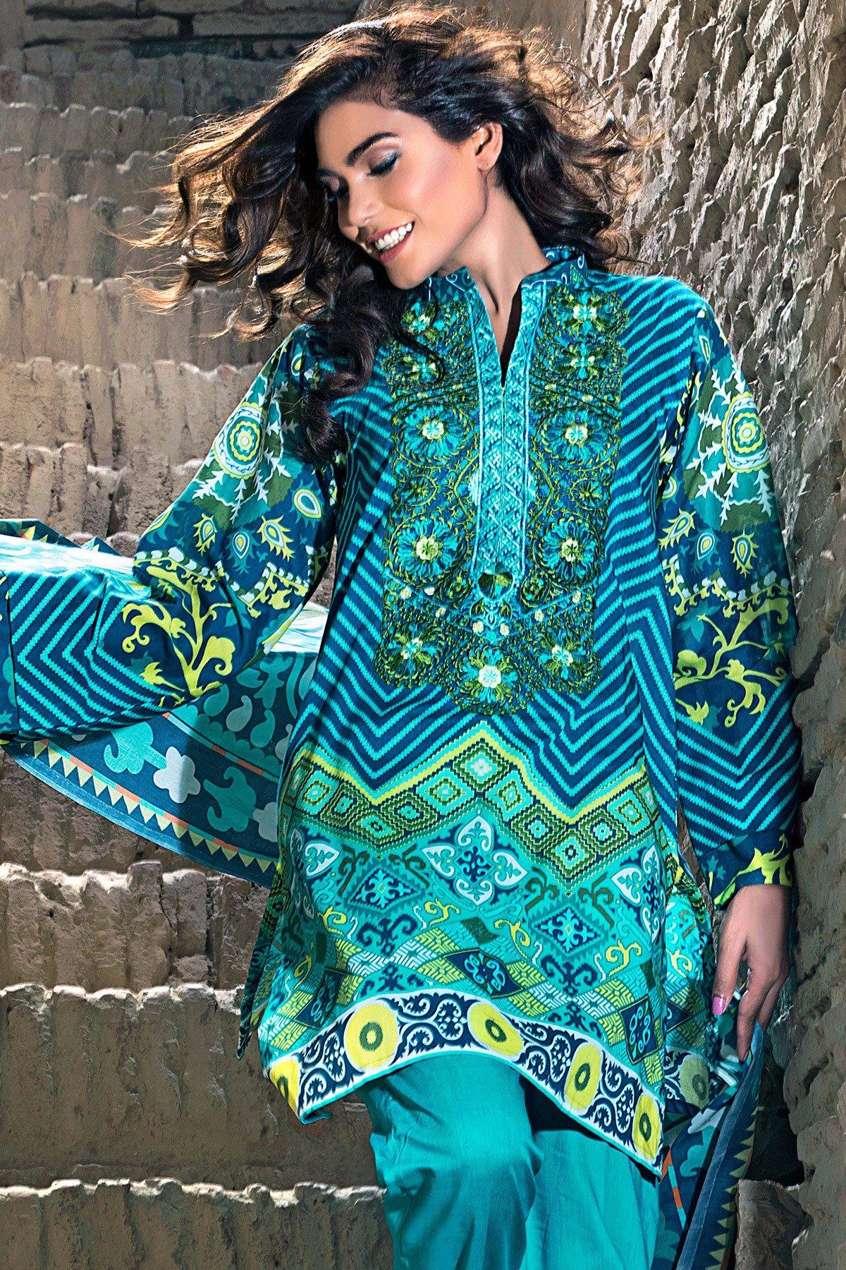Gul Ahmed new dresses designs 2017