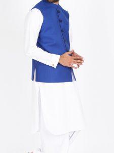 JJ Blue Color Waist Coat for Men 2017