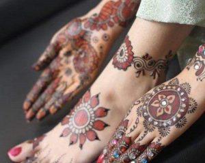 Latest Colored Mehndi Designs 2017