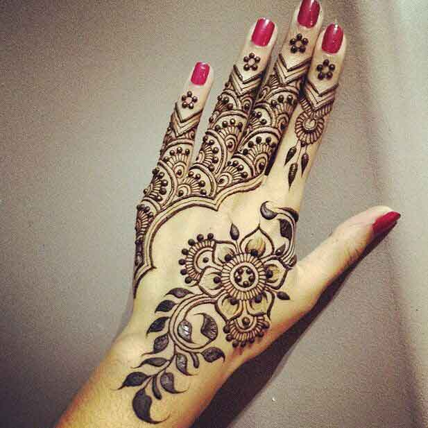 Patterns and Flowers Mehndi Designs 2017