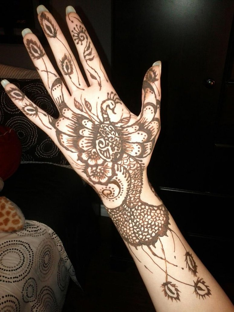 Peacock Mehndi Designs 2017 for girls