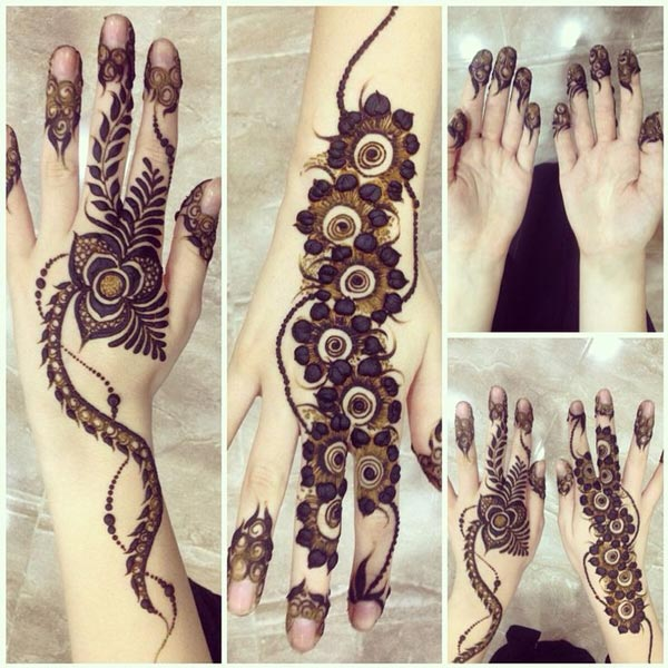 Trendy Arabic Mehndi Designs 2017 for girls