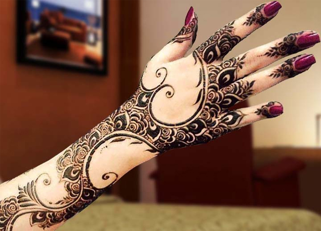 Trendy Arabic Mehndi Designs 2017