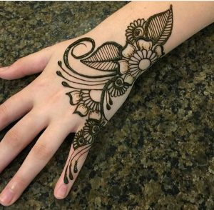 flower mehndi designs for girls 2017