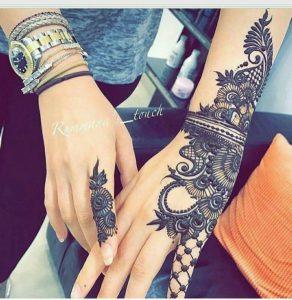 stylish designs of mehndi for girls 2017