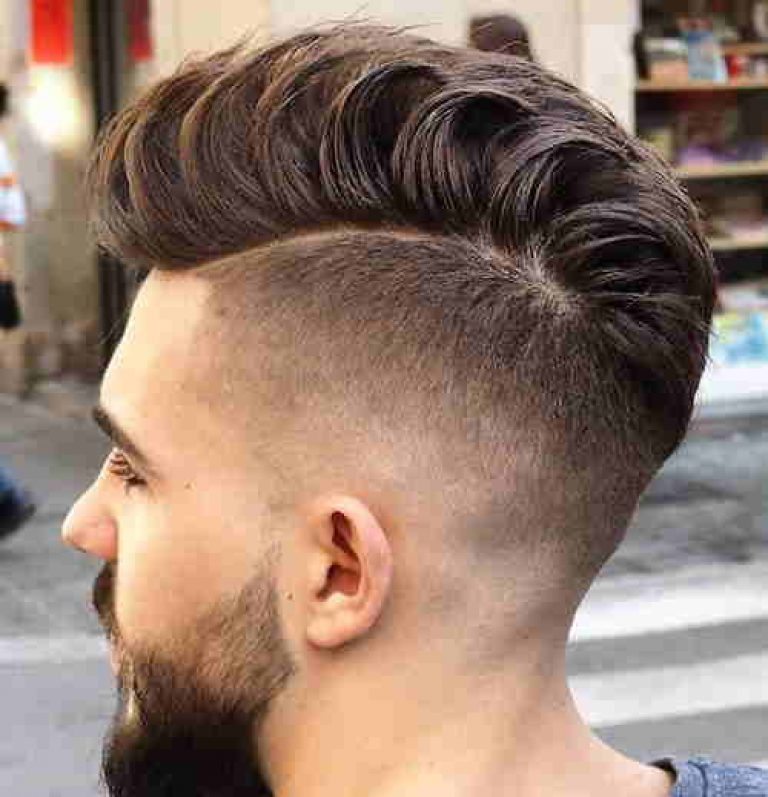 High Fades with loose Pompadour for men 2017