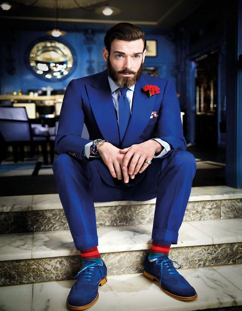 best men's party suite with matching shoes 2017