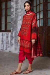 Khaadi Red Color Dresses Collection 2017 for Girls