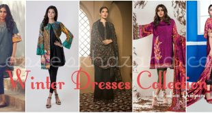 Latest Fall Winter Dresses Collection 2017 Outfit for Women