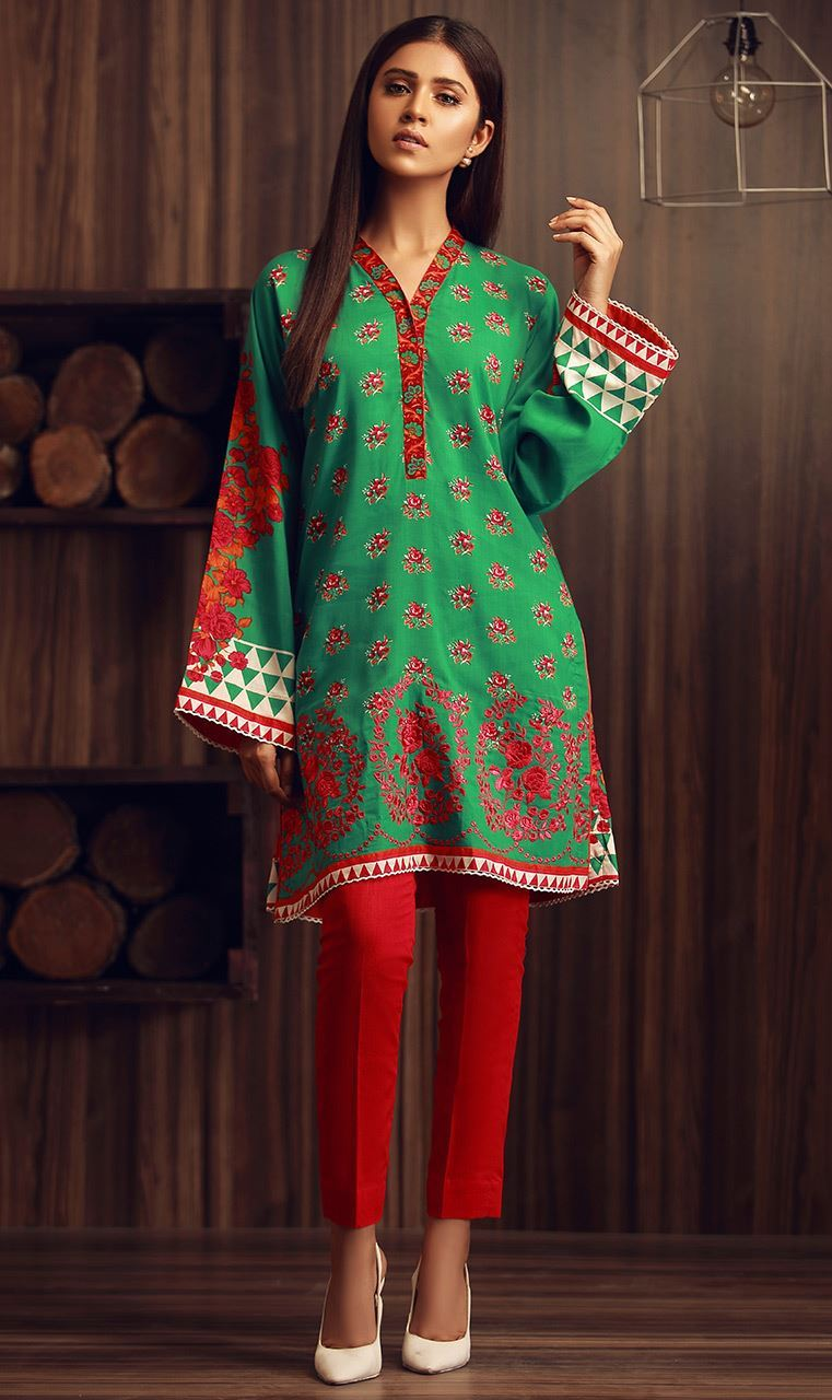 3a592dec12a These dresses are quite affordable and look fabulous with amazing  embroidered work that has been done on shirt fronts.
