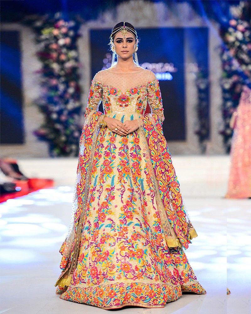 Nomi Ansari Multi Colored Bridal Dresses Designs