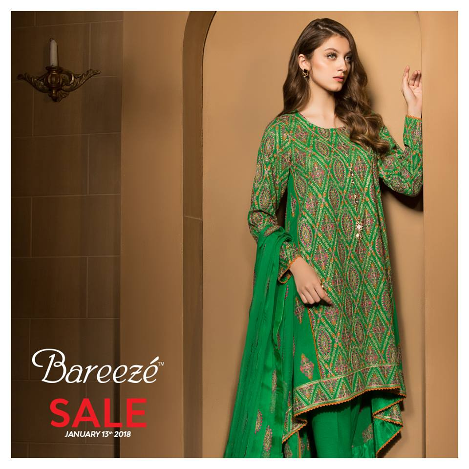 Bareeze - Best Unstitched Winter Collection Clothes Sale in Pakistan