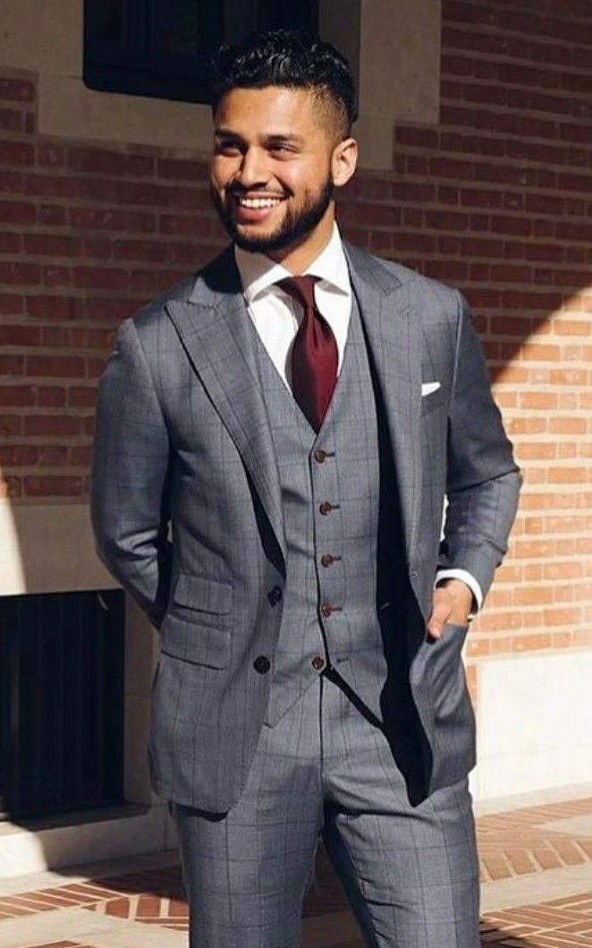 charcoal mens suiting