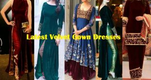 latest velvet gown dresses