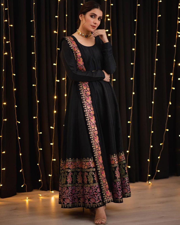 Aiza Khan in Black Dress