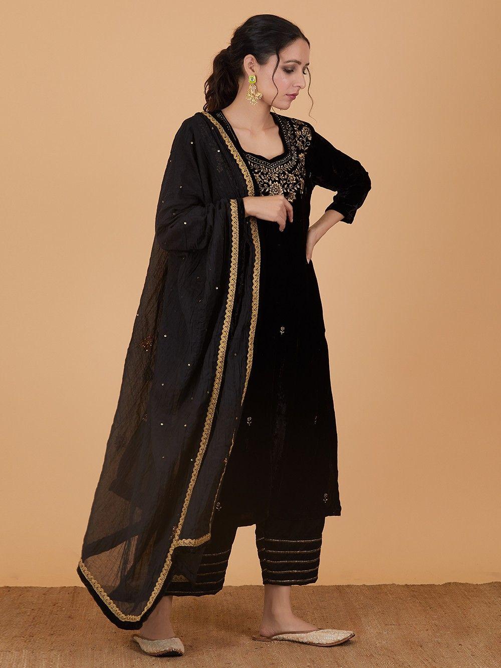 black shalwar kameez