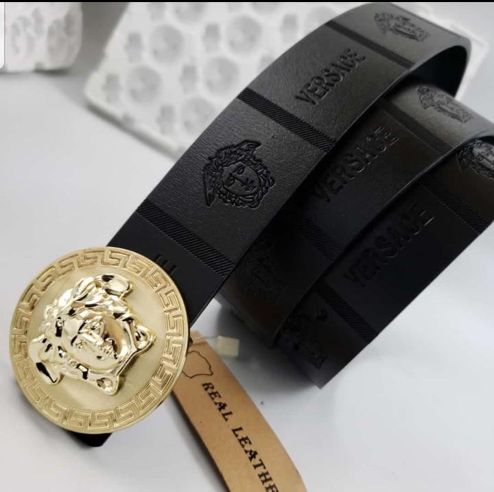 versace leather belt