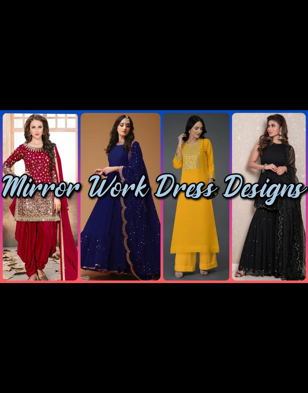 mirror work dress designs